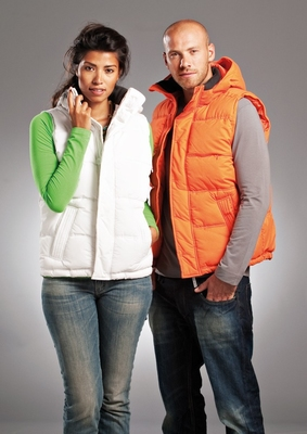 L&S Red Bluff Bodywarmer with hood