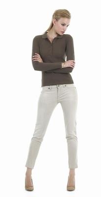Poloshirt B&C Safran pur woman LSL