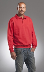 L&S Sweatshirt Polo Collar