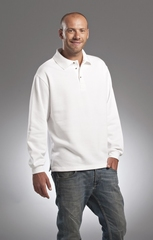 L&S Sweatshirt Polo Open Hem