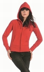 Sweatshirt B&C Hooded woman Full zip